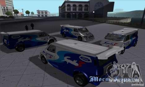 Ford Transit Supervan 3 2004 für GTA San Andreas Rückansicht