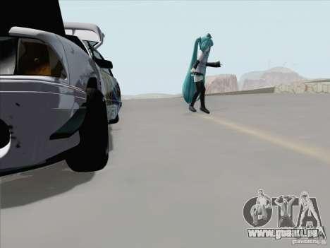 Ford Mustang Drift pour GTA San Andreas vue de dessus