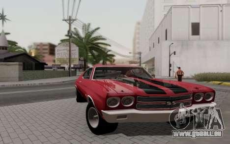 Chevrolet Chevelle SS 454 1970 für GTA San Andreas zurück linke Ansicht