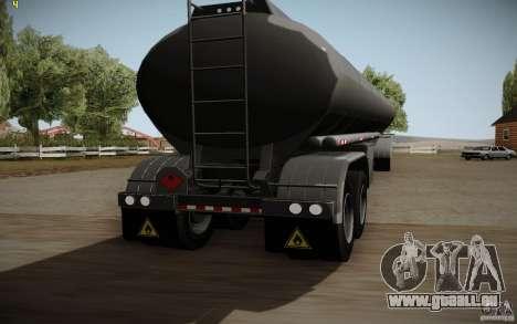 Caravane de Mack Pinnacle Rawhide Edition pour GTA San Andreas sur la vue arrière gauche
