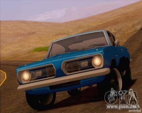 Plymouth Barracuda 1968 pour GTA San Andreas vue de droite