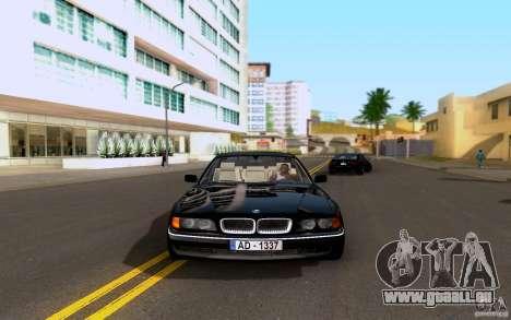 BMW 730i E38 FBI pour GTA San Andreas sur la vue arrière gauche