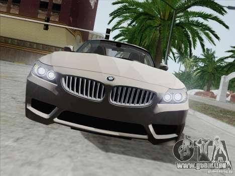 BMW Z4 2011 pour GTA San Andreas vue intérieure