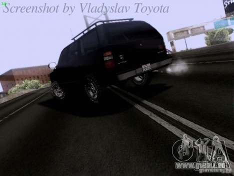 Chevrolet Tahoe 2003 SWAT für GTA San Andreas zurück linke Ansicht