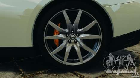 Nissan GT-R 2012 Black Edition für GTA 4 Innen