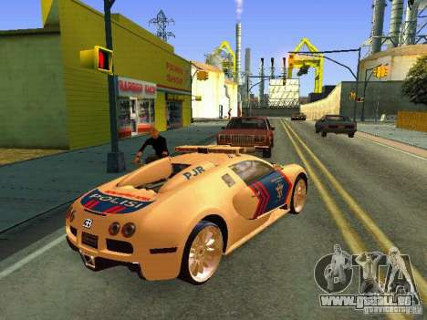Bugatti Veyron Indonesian Police für GTA San Andreas linke Ansicht