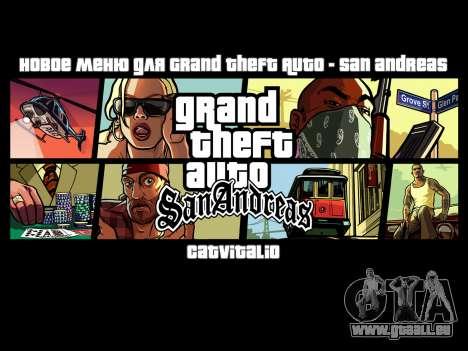 Nouveau menu de CatVitalio pour GTA San Andreas