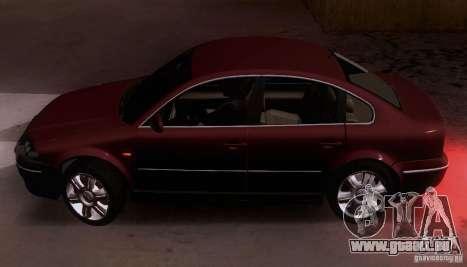 Volkswagen Passat B5+ pour GTA San Andreas laissé vue