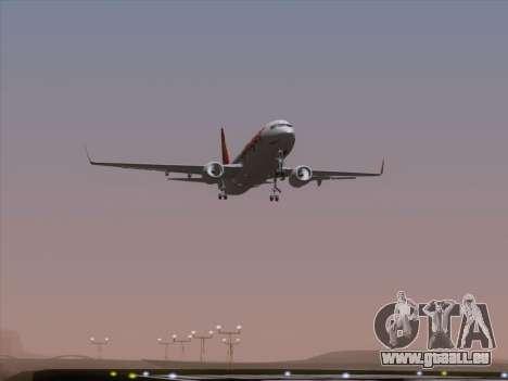 Boeing 737-8F2 Spicejet für GTA San Andreas Unteransicht