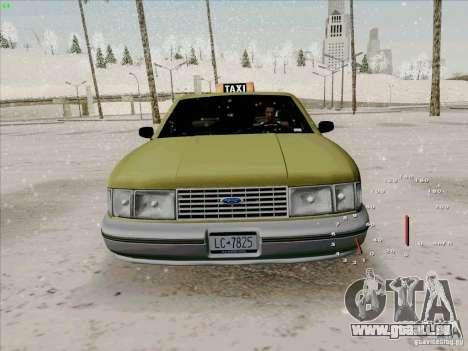 SA Taxi HD de GTA 3 pour GTA San Andreas vue intérieure