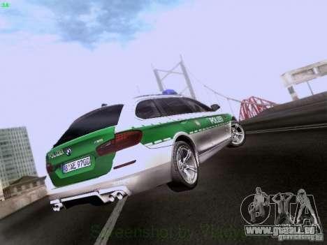 BMW M5 Touring Polizei pour GTA San Andreas vue de droite