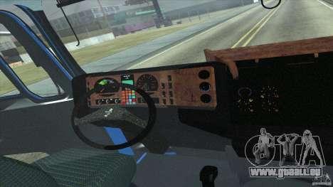 Man F2000 pour GTA San Andreas vue arrière