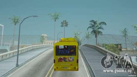 Mercedes-Benz Citaro G pour GTA San Andreas sur la vue arrière gauche