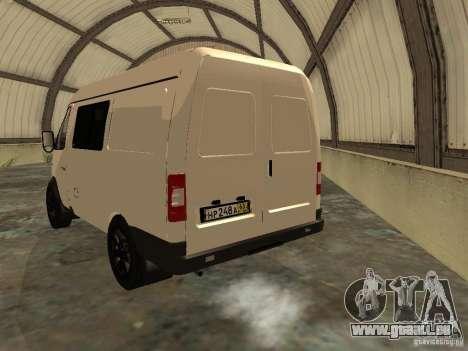 GAZ 2752 Sobol Business für GTA San Andreas zurück linke Ansicht