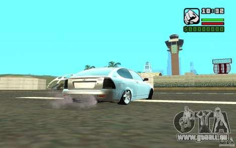 VAZ-2172 pour GTA San Andreas sur la vue arrière gauche