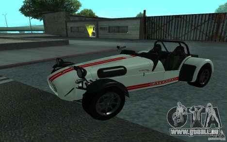 Caterham R500 für GTA San Andreas Rückansicht
