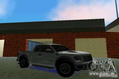 Ford F-150 SVT Raptor pour une vue GTA Vice City de la gauche