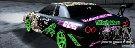 New Elegy DriftingStyleTeam für GTA San Andreas linke Ansicht