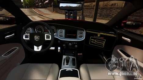 Dodge Charger RT Max FBI 2011 [ELS] pour GTA 4 Vue arrière