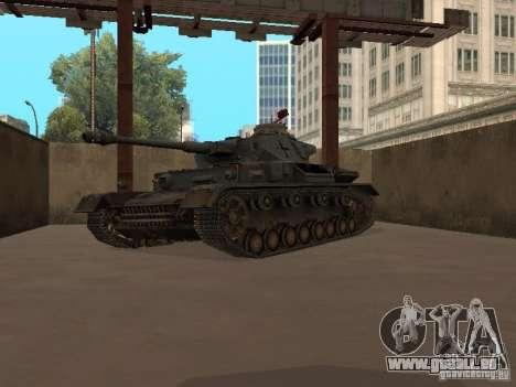 Pzkpfw IV pour GTA San Andreas laissé vue