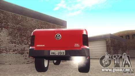 Volkswagen Amarok TDI Trendline 2013 für GTA San Andreas zurück linke Ansicht