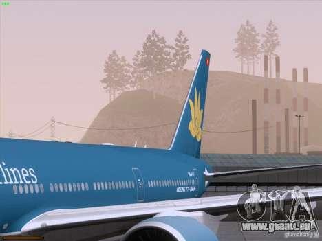 Boeing 777-2Q8ER Vietnam Airlines pour GTA San Andreas salon