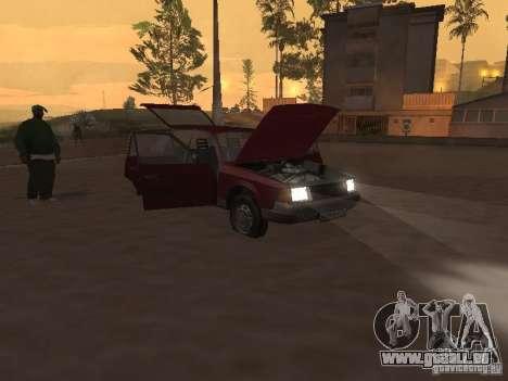 AZLK Moskvich 2141 für GTA San Andreas Innenansicht
