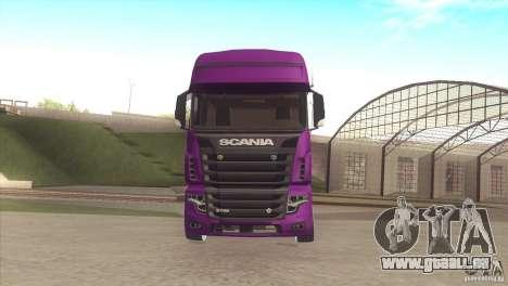 Scania Euro 5 R700 V8 pour GTA San Andreas laissé vue