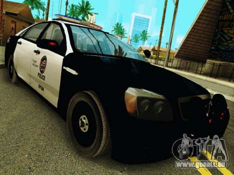 Chevrolet Caprice 2011 Police für GTA San Andreas Rückansicht