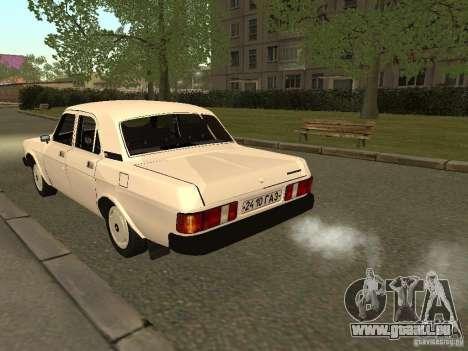 Volga GAZ 31013 pour GTA San Andreas vue de droite