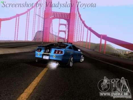 Ford Mustang GT 2011 Police Enforcement pour GTA San Andreas vue intérieure