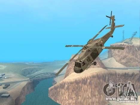 Die UH-60 von COD MW3 für GTA San Andreas Seitenansicht