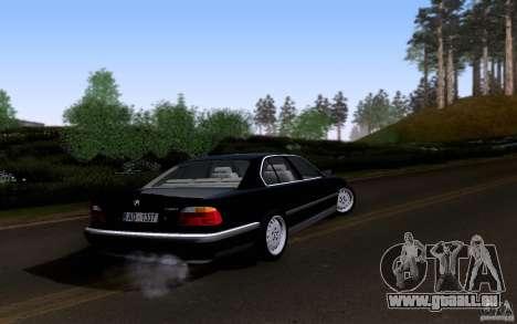 BMW 730i E38 pour GTA San Andreas vue de dessus
