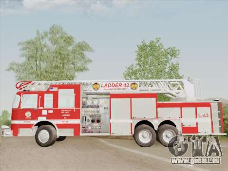 Pierce Arrow LAFD Ladder 43 für GTA San Andreas Unteransicht