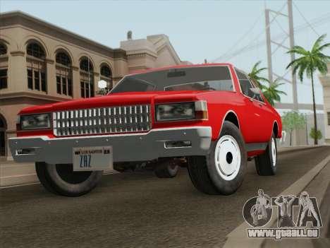 Chevrolet Caprice 1986 für GTA San Andreas rechten Ansicht