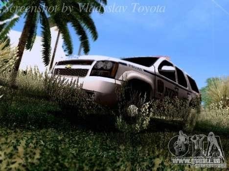 Chevrolet Tahoe 2007 NYPD pour GTA San Andreas vue arrière