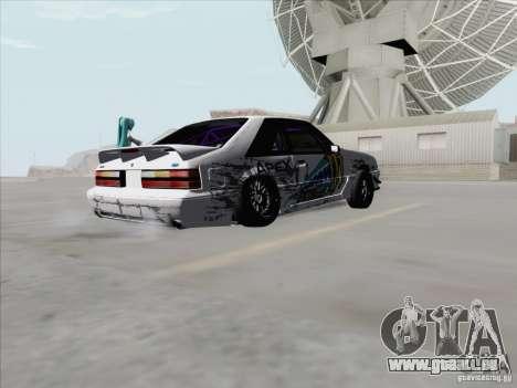 Ford Mustang Drift pour GTA San Andreas vue de droite