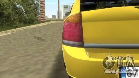 Opel Vectra pour une vue GTA Vice City de l'intérieur