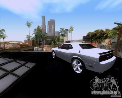 Dodge Challenger SRT8 2009 pour GTA San Andreas sur la vue arrière gauche