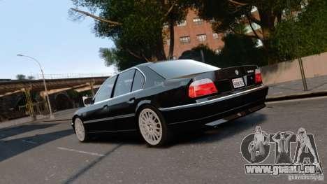 BMW 740I 1998 pour GTA 4 est une gauche