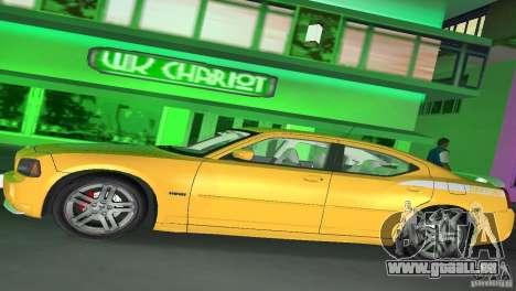 Dodge Charger RT für GTA Vice City Rückansicht