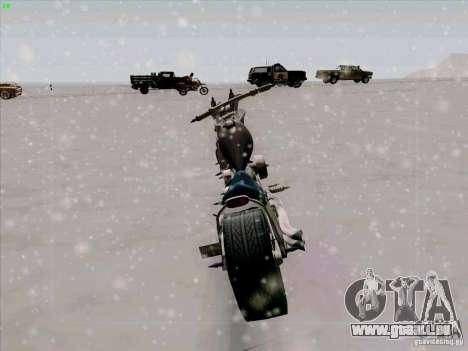 Harley für GTA San Andreas Rückansicht