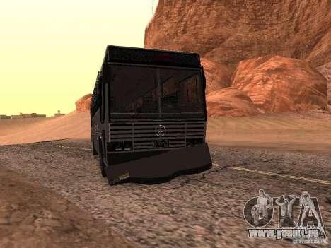Mercedes Benz SWAT Bus pour GTA San Andreas vue intérieure