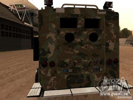 Lenco Bearcat NYPD pour GTA San Andreas vue de droite