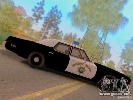 Dodge Monaco 1974 California Highway Patrol pour GTA San Andreas vue de droite