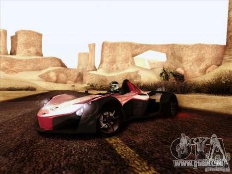 BAC MONO für GTA San Andreas Rückansicht