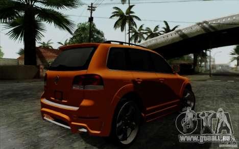 Volkswagen Touareg R50 Light für GTA San Andreas Rückansicht