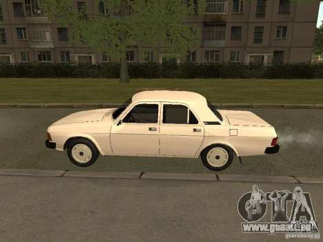 Volga GAZ 31013 pour GTA San Andreas sur la vue arrière gauche