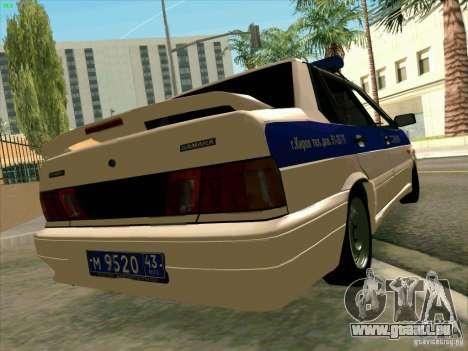 VAZ-2115-Polizei für GTA San Andreas linke Ansicht
