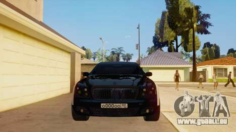 Maybach 62 pour GTA San Andreas vue intérieure